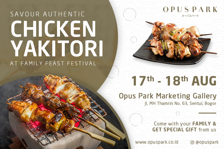 """Savor Authentic """"Chicken Yakitori"""" Only at Family Feast Festival"""