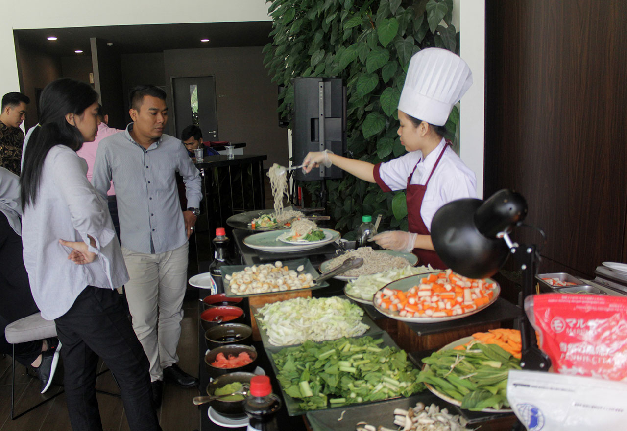 Opus Park Held an Open House Event Themed Japanese Food